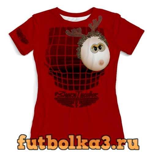 Футболка Сиська - олень женская