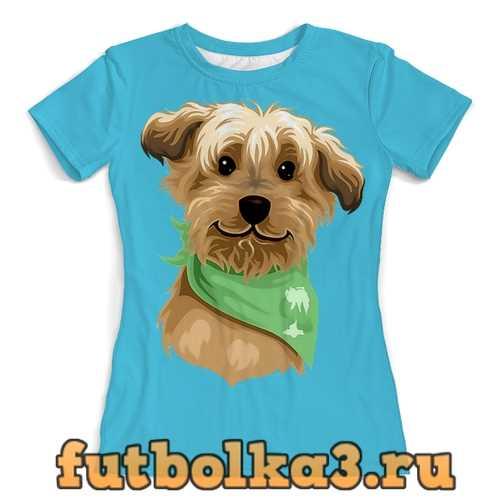 Футболка Собачка в платочке женская