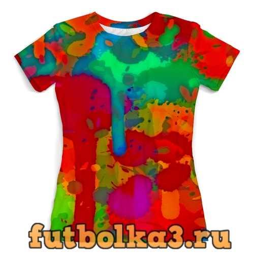 Футболка Сочные краски женская