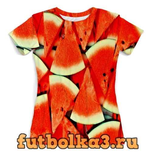 Футболка Сочный арбуз женская