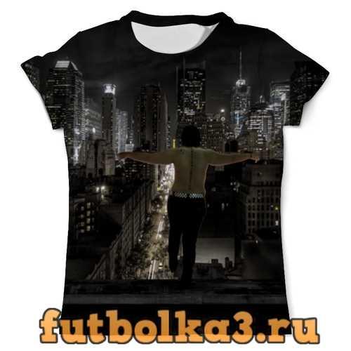 Футболка Свобода. Ночной город. мужская