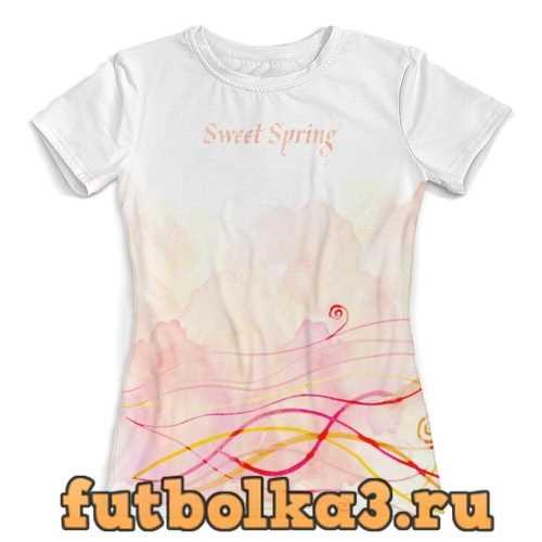 Футболка Sweet Spring (aquarelle) женская