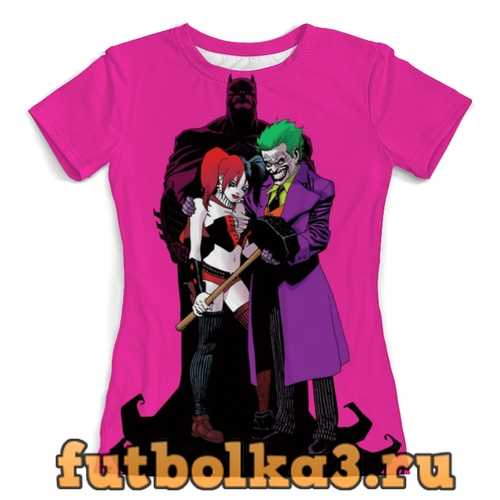 Футболка The Joker Harley Quinn and Batman женская