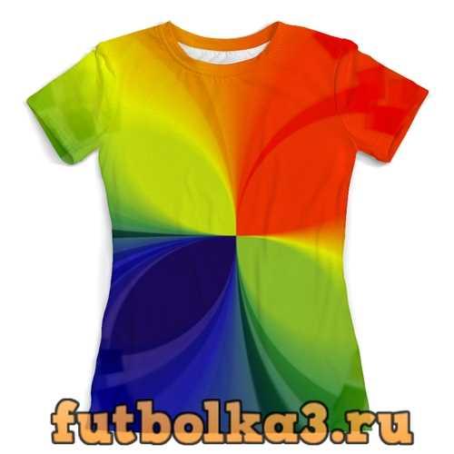 Футболка Цветной калейдоскоп женская