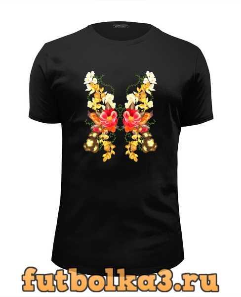 Футболка Цветочная бабочка мужская