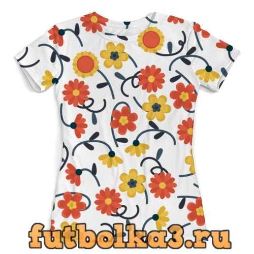 Футболка Цветочная женская
