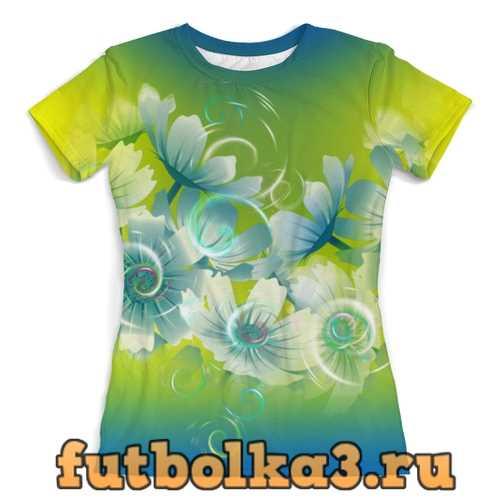 Футболка Цветочное настроение лета женская