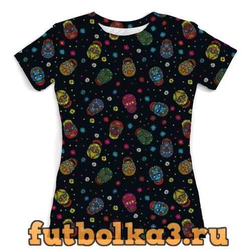 Футболка Цветочные черепа женская