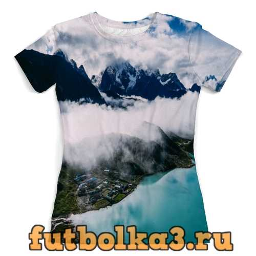 Футболка Туман в горах женская