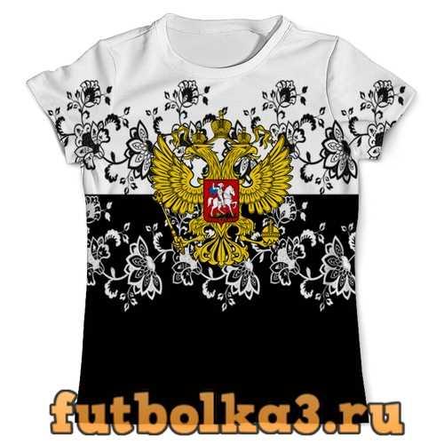 Футболка Узор и герб мужская