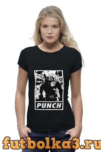 Футболка Ванпанчмен ( one punch man ) женская