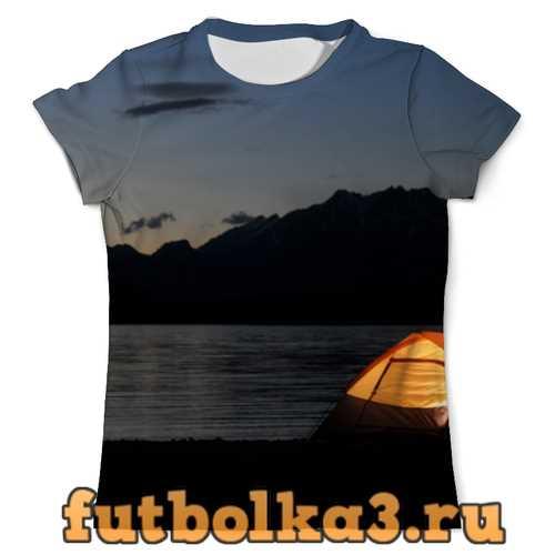 Футболка Вечер на берегу мужская