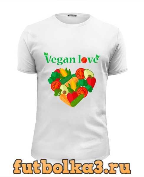 Футболка Vegan love мужская