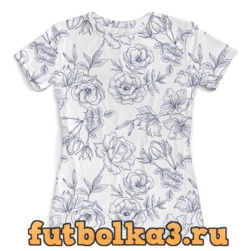 Футболка Весенние розы женская