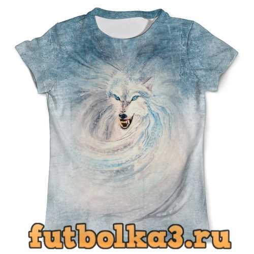 Футболка Волк-зима мужская