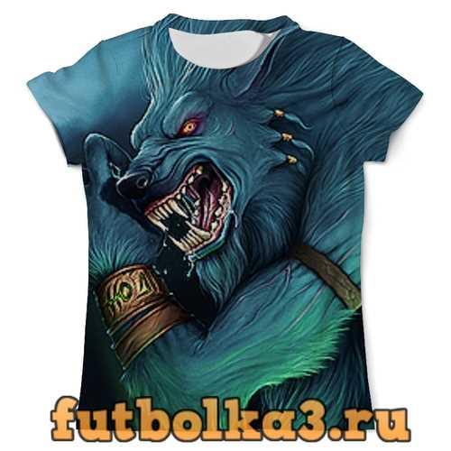 Футболка волки фэнтези мужская