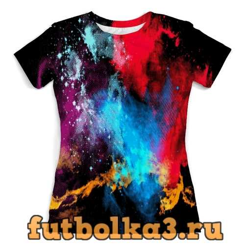Футболка Взрыв красок женская