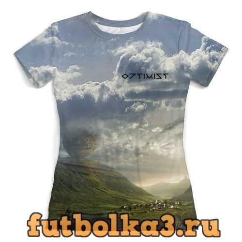 Футболка Я люблю Эрика Йоханссона. ОПТИМИСТ женская
