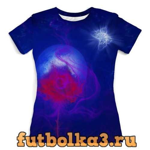 Футболка Яркий цветок . женская