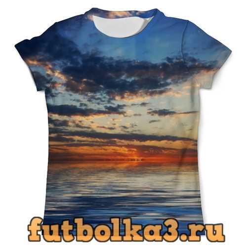 Футболка Закат на море мужская