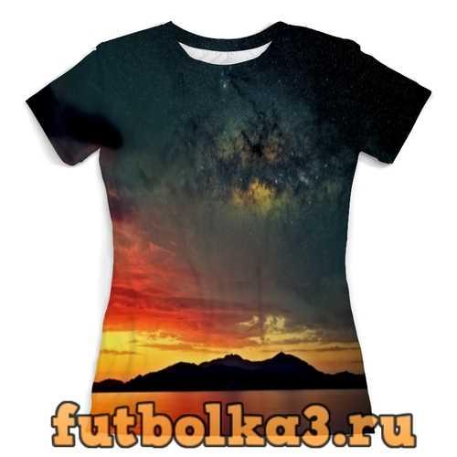Футболка Закат женская