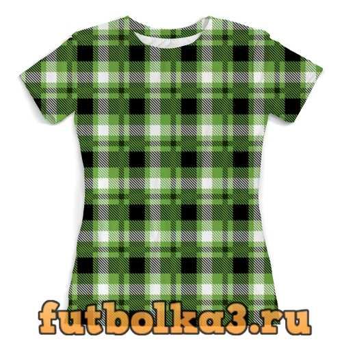 Футболка Зеленая клетка женская