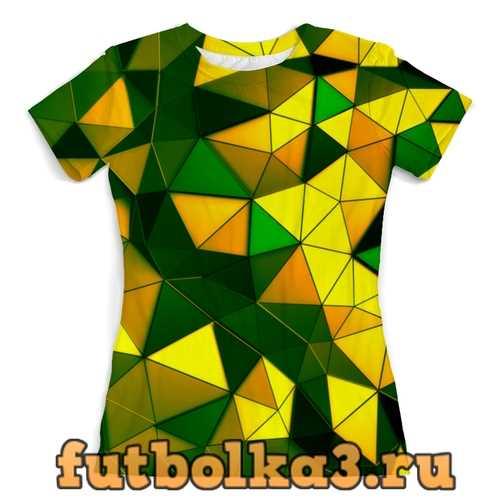 Футболка Желто-зеленые стекла женская