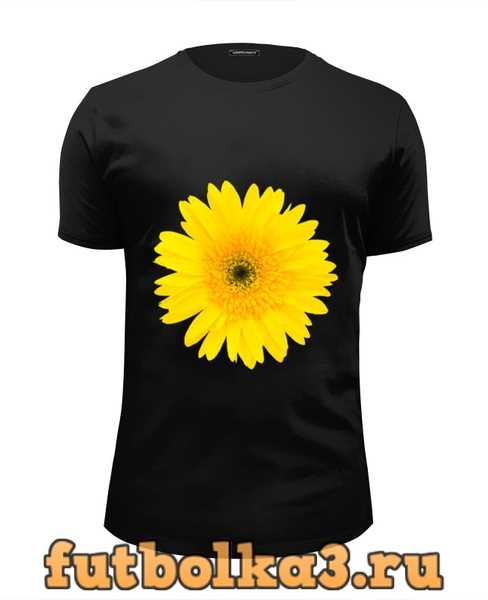 Футболка Желтый цветок мужская