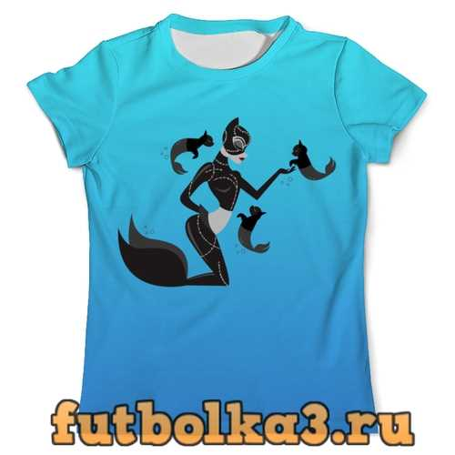 Футболка Женщина кошка мужская