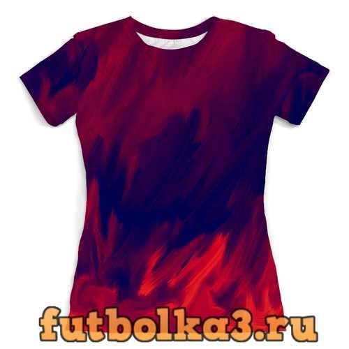 Футболка Живописные краски женская