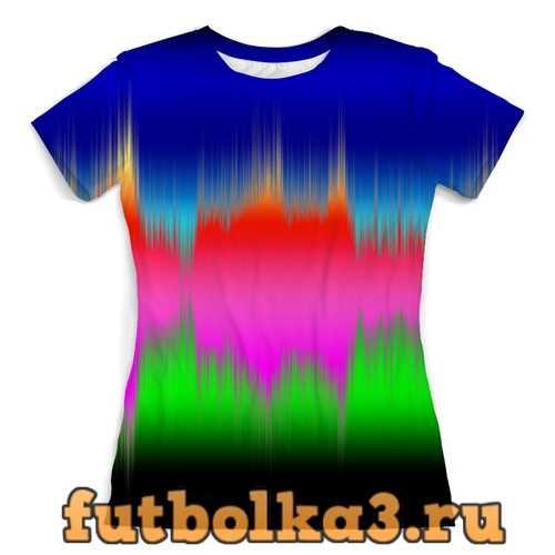 Футболка Звуковая волна женская