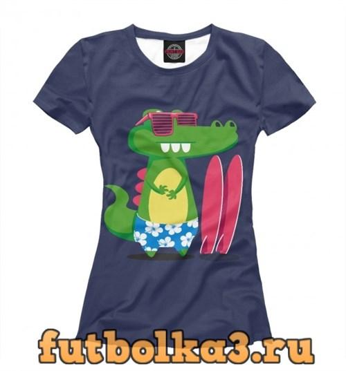 Футболка Alligator surfer женская