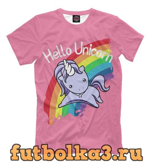 Футболка Altered carbon hello unicorn мужская