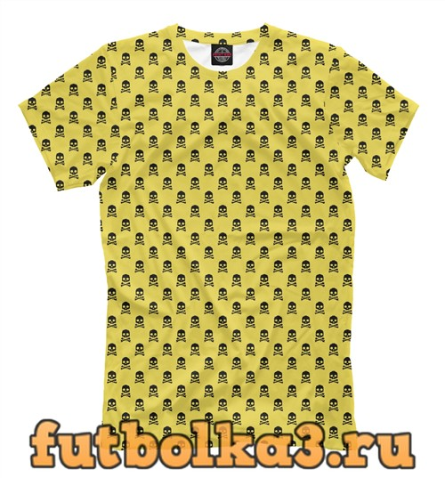 Футболка Черепа на желтом мужская
