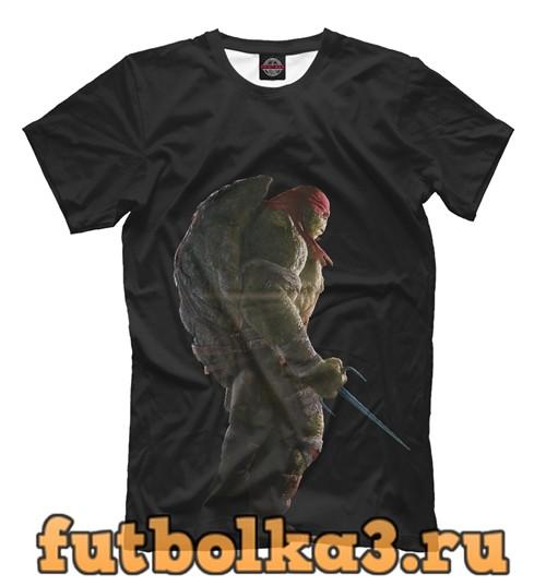Футболка Черепашки-ниндзя: рафаэль мужская