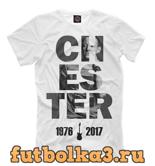 Футболка Chester - linkin park мужская