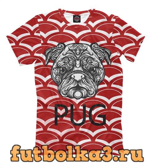 Футболка China pug мужская