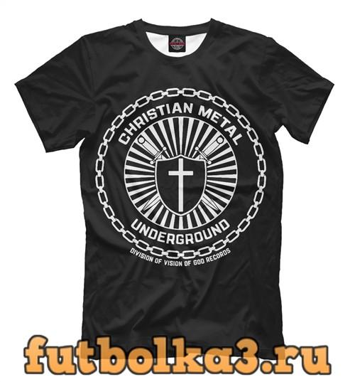 Футболка Christian metal мужская