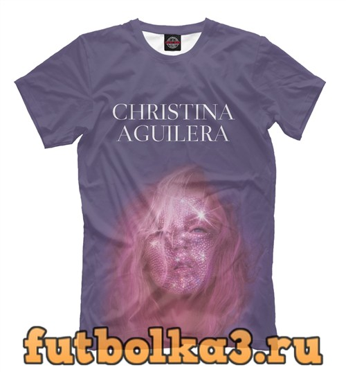 Футболка Christina aguilera мужская
