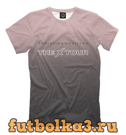 Футболка Christina aguilera - the x tour мужская
