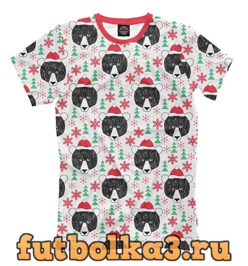 Футболка Christmas bear мужская