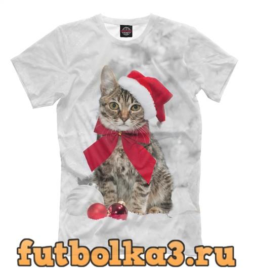 Футболка Christmas cat мужская