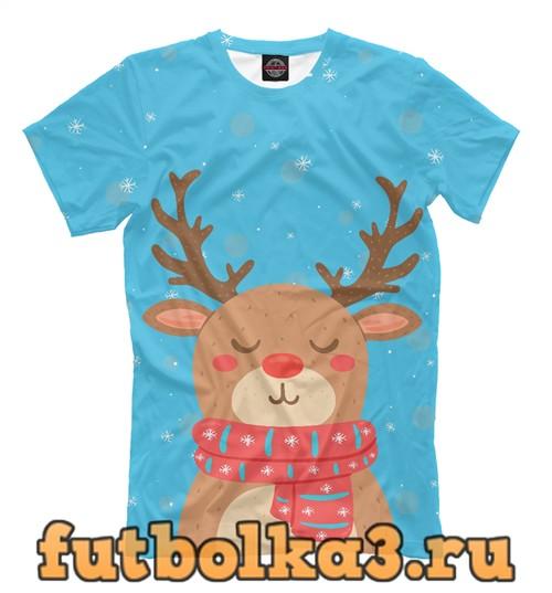 Футболка Christmas deer мужская