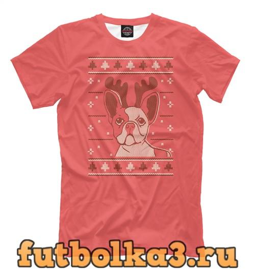 Футболка Christmas dog мужская