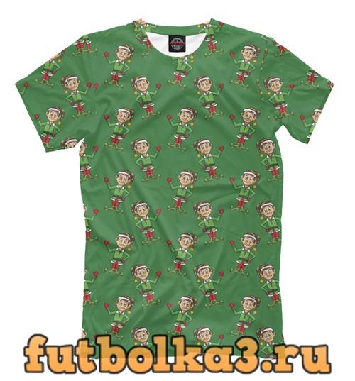 Футболка Christmas elf мужская