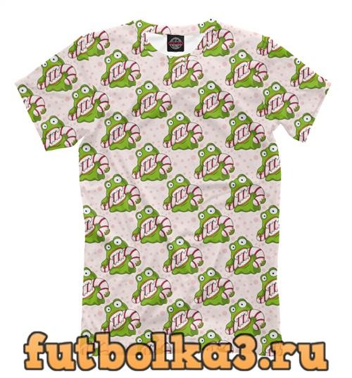 Футболка Christmas frog мужская