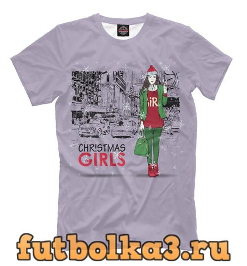 Футболка Christmas girls мужская