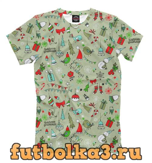 Футболка Christmas holidays мужская