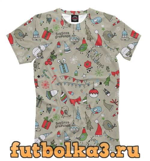 Футболка Christmas joy мужская