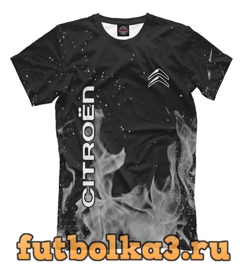 Футболка Citroen grey fire мужская